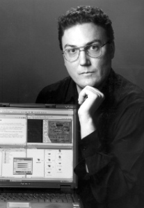Robert Phair with computer
